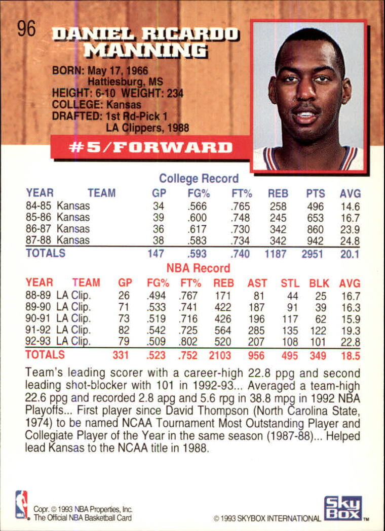 1993-94-Hoops-Fifth-Anniversary-Gold-Basketball-Cards-1-249-Pick-From-List thumbnail 127