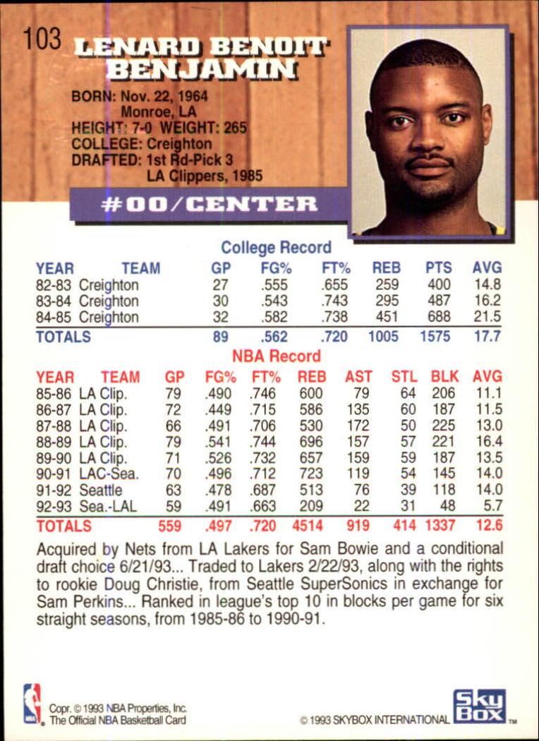 1993-94-Hoops-Fifth-Anniversary-Gold-Basketball-Cards-1-249-Pick-From-List thumbnail 135