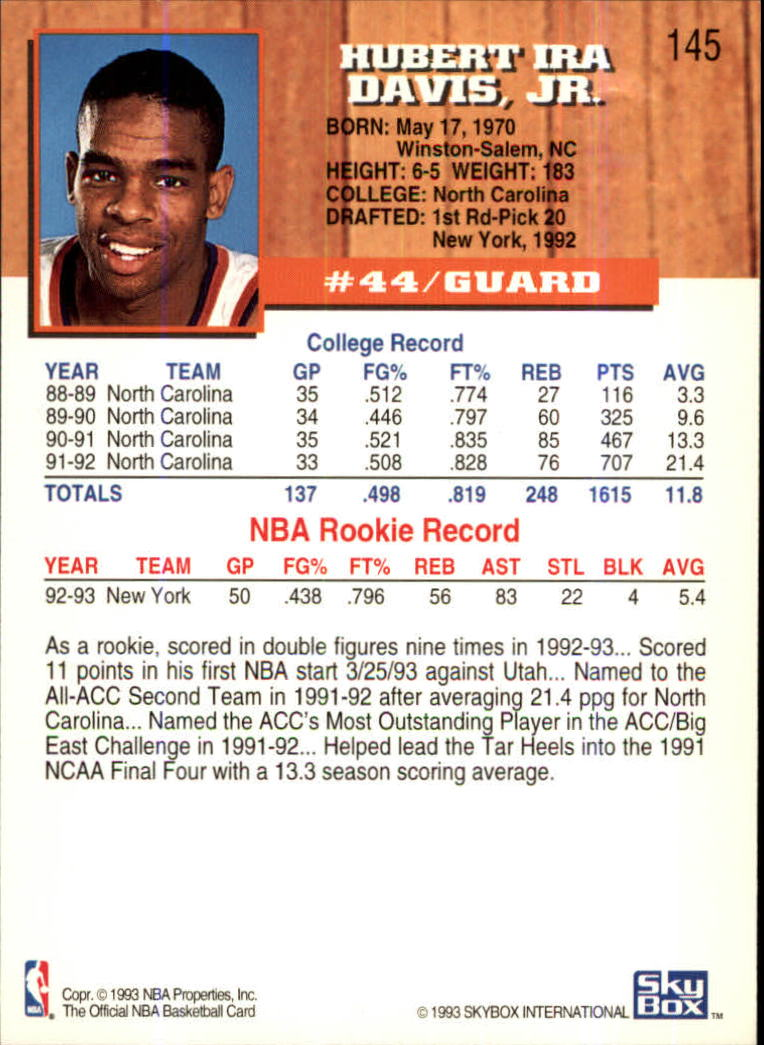1993-94-Hoops-Fifth-Anniversary-Gold-Basketball-Cards-1-249-Pick-From-List thumbnail 191