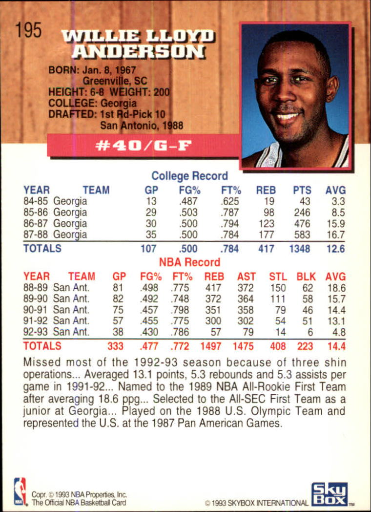 1993-94-Hoops-Fifth-Anniversary-Gold-Basketball-Cards-1-249-Pick-From-List thumbnail 257