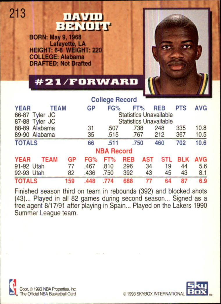 1993-94-Hoops-Fifth-Anniversary-Gold-Basketball-Cards-1-249-Pick-From-List thumbnail 275