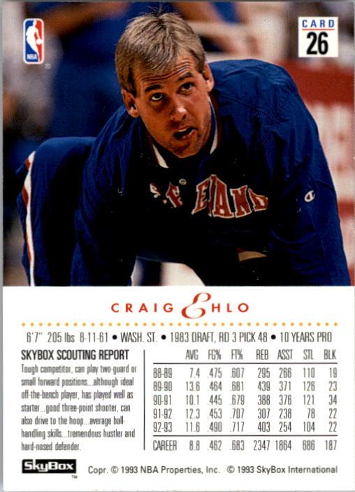 1993-94 SkyBox Premium #26 Craig Ehlo back image