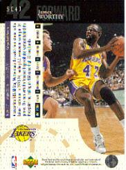 1994-95 Upper Deck Special Edition #43 James Worthy back image