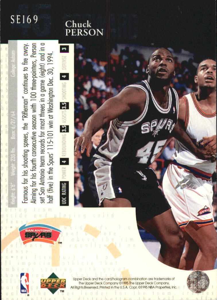 1994-95 Upper Deck Special Edition #169 Chuck Person back image