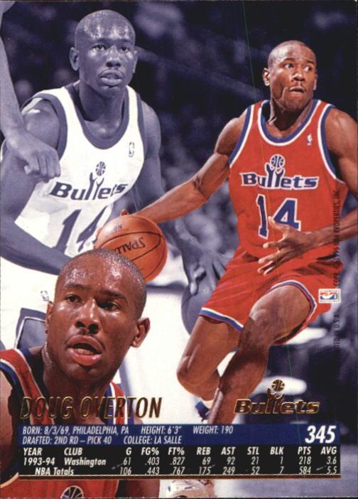 1994-95 Ultra #345 Doug Overton back image