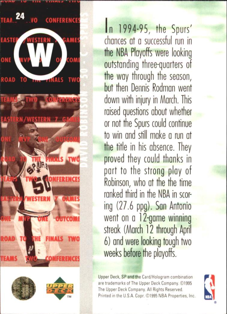 1994-95 SP Championship #24 David Robinson RF back image