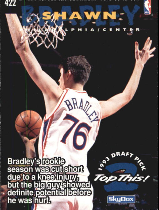 1994-95 Hoops #422 Jason Kidd TOP/Shawn Bradley back image