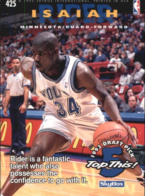 1994-95 Hoops #425 Juwan Howard TOP/Isaiah Rider back image
