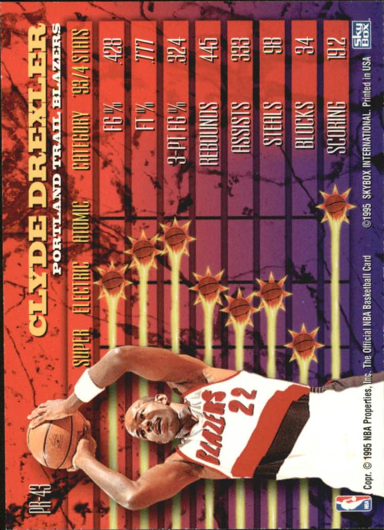 1994-95 Hoops Power Ratings #PR43 Clyde Drexler back image