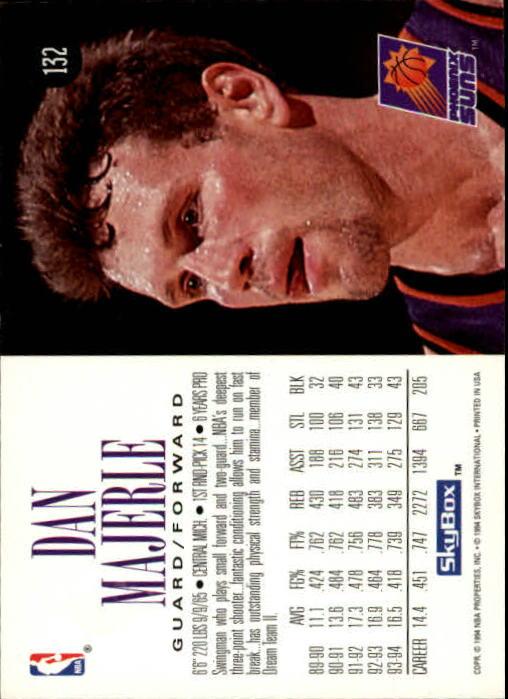 1994-95 SkyBox Premium #132 Dan Majerle back image
