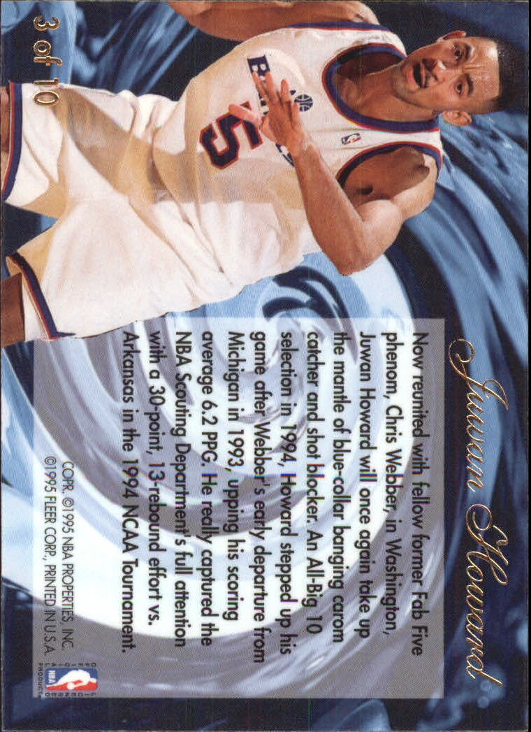 1994-95 Flair Wave of the Future #3 Juwan Howard back image