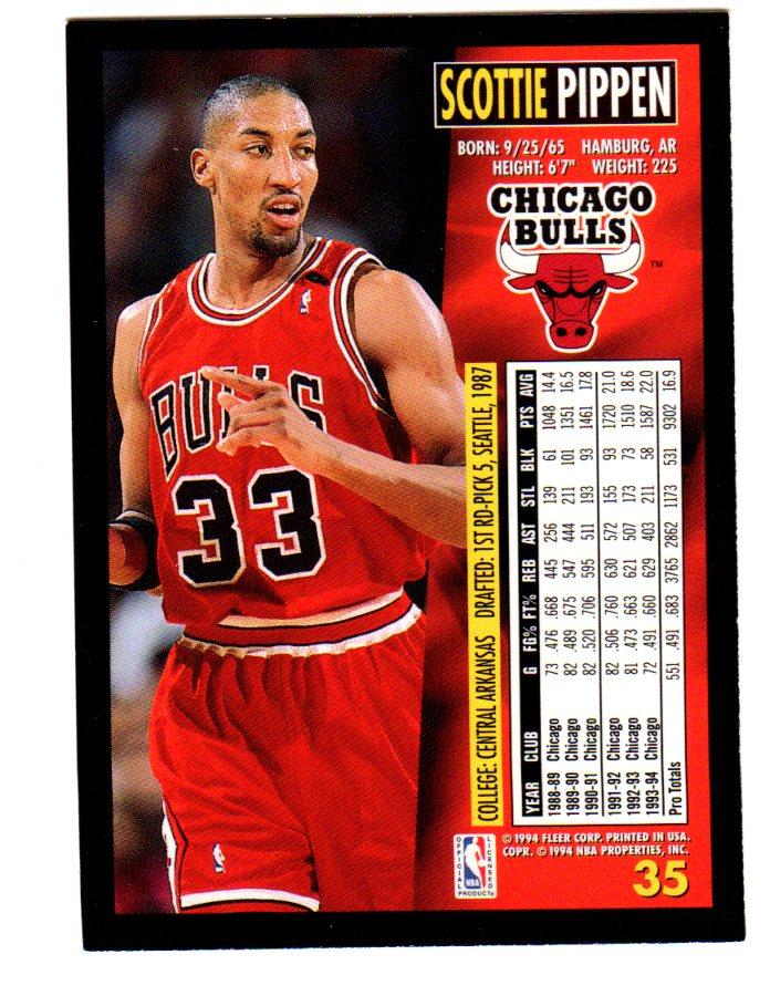 cheaper 4e203 74feb 1994-95 Fleer #35 Scottie Pippen - NM-MT