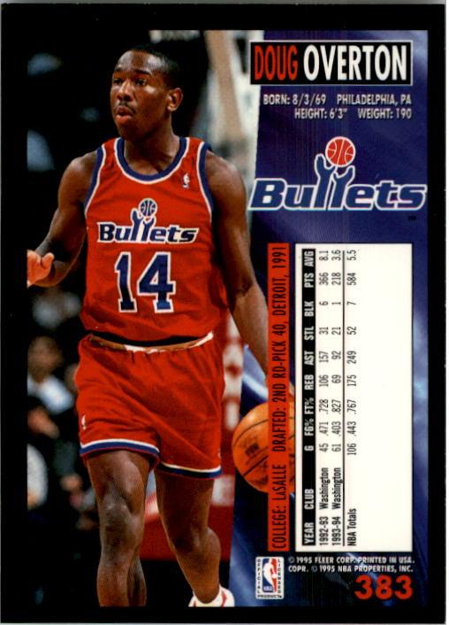 1994-95 Fleer #383 Doug Overton back image
