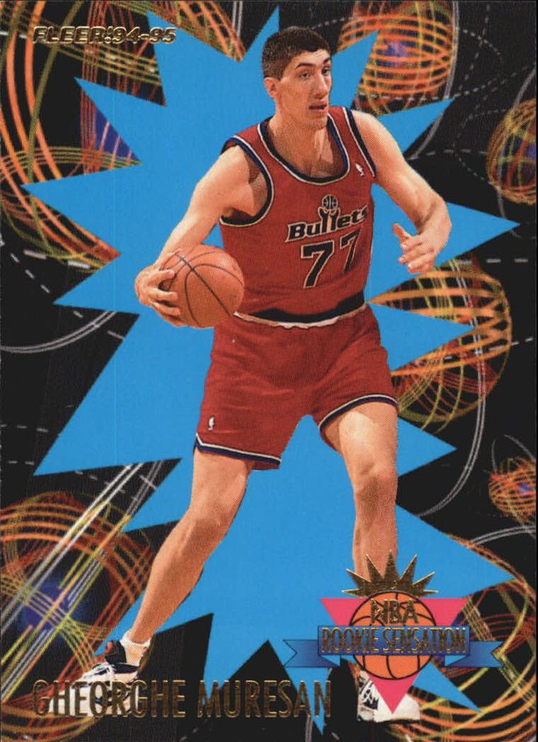 1994-95 Fleer Rookie Sensations #18 Gheorghe Muresan