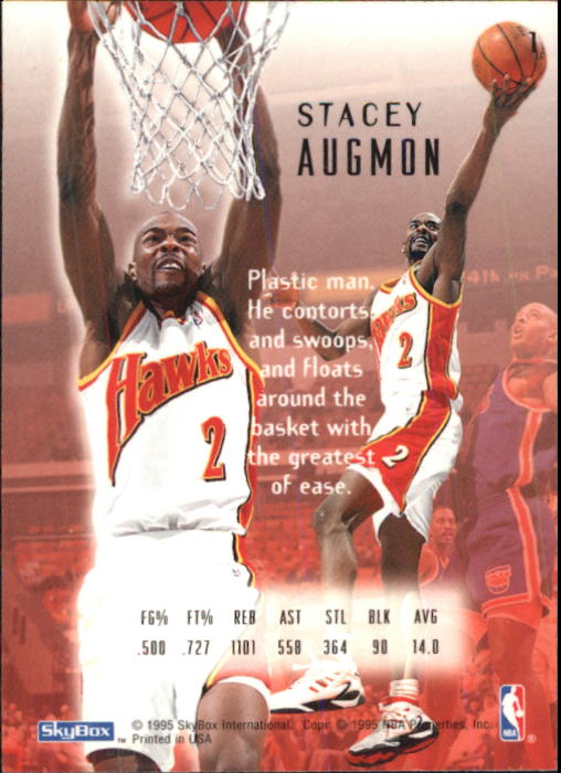 1994-95 Emotion #1 Stacey Augmon back image