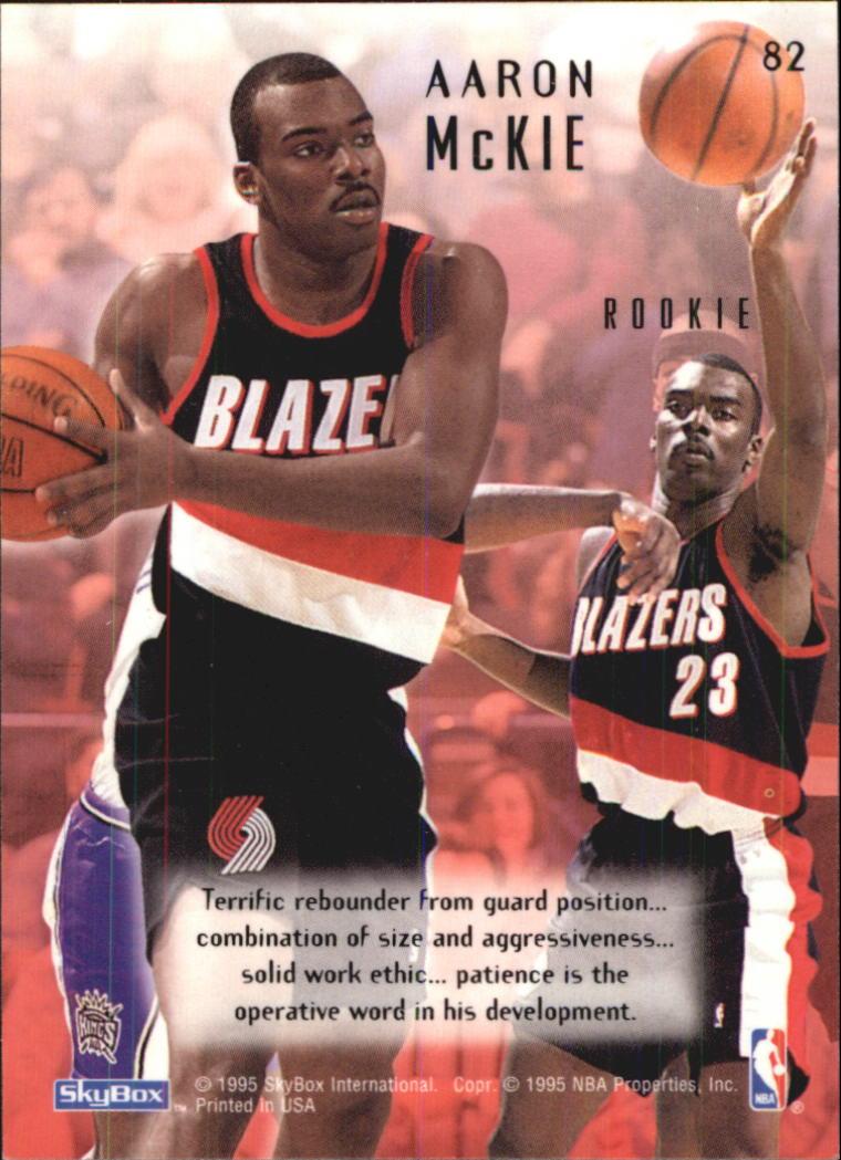 Basketbal 1994-95 Skybox Emotion #82 Aaron McKie Portland Trail Blazers RC Basketball Card Verzamelkaarten: sport