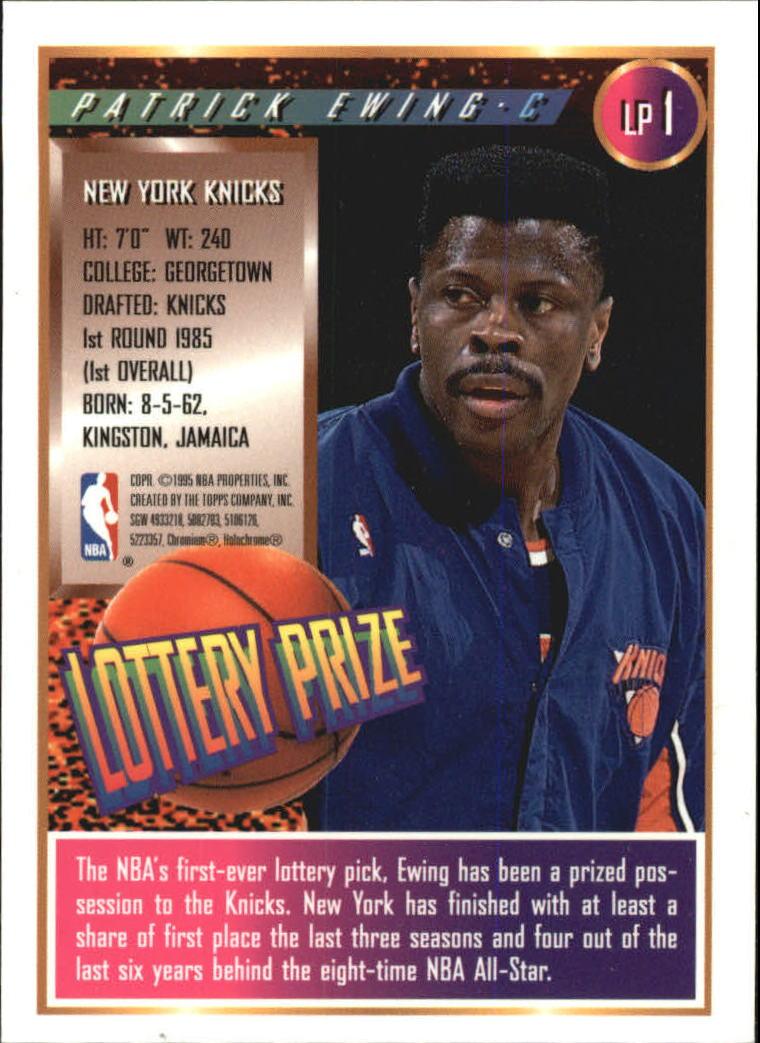 1994-95 Finest Lottery Prize #LP1 Patrick Ewing back image