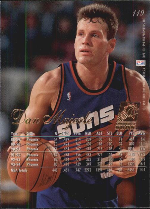1994-95 Flair #119 Dan Majerle back image