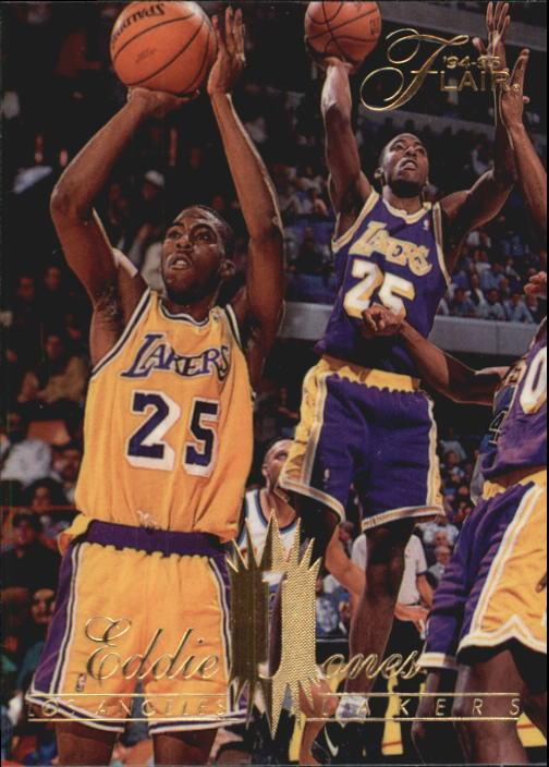 78124f9c9 1994-95 Flair Los Angeles Lakers Basketball Card  241 Eddie Jones Rookie