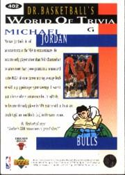 1994-95 Collector's Choice Silver Signature #402 Michael Jordan TRIV back image