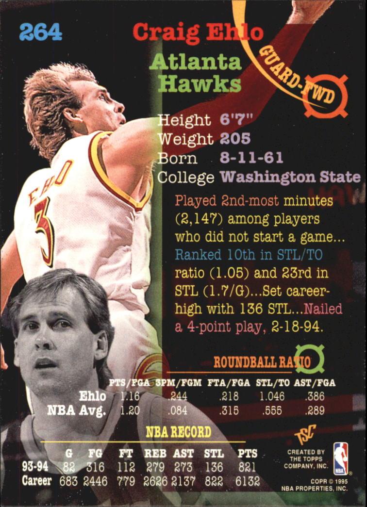 1994-95 Stadium Club Super Teams NBA Finals #264 Craig Ehlo back image