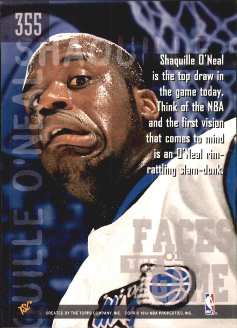 1994-95 Stadium Club Super Teams NBA Finals #355 Shaquille O'Neal FG back image