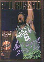 1995 Action Packed Hall of Fame Autographs #40 Bill Russell