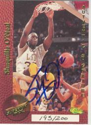 1995 Superior Pix Autographs #74 Shaquille O'Neal/200
