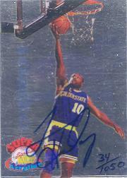 1995 Signature Rookies Kromax Super Acrylium Signatures #SA2 Tim Hardaway/1050