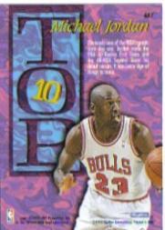 1995-96 Hoops Top Ten #AR7 Michael Jordan back image