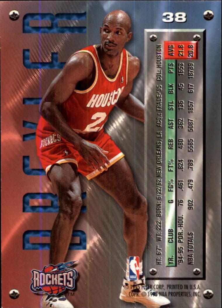 1995-96 Metal #38 Clyde Drexler back image