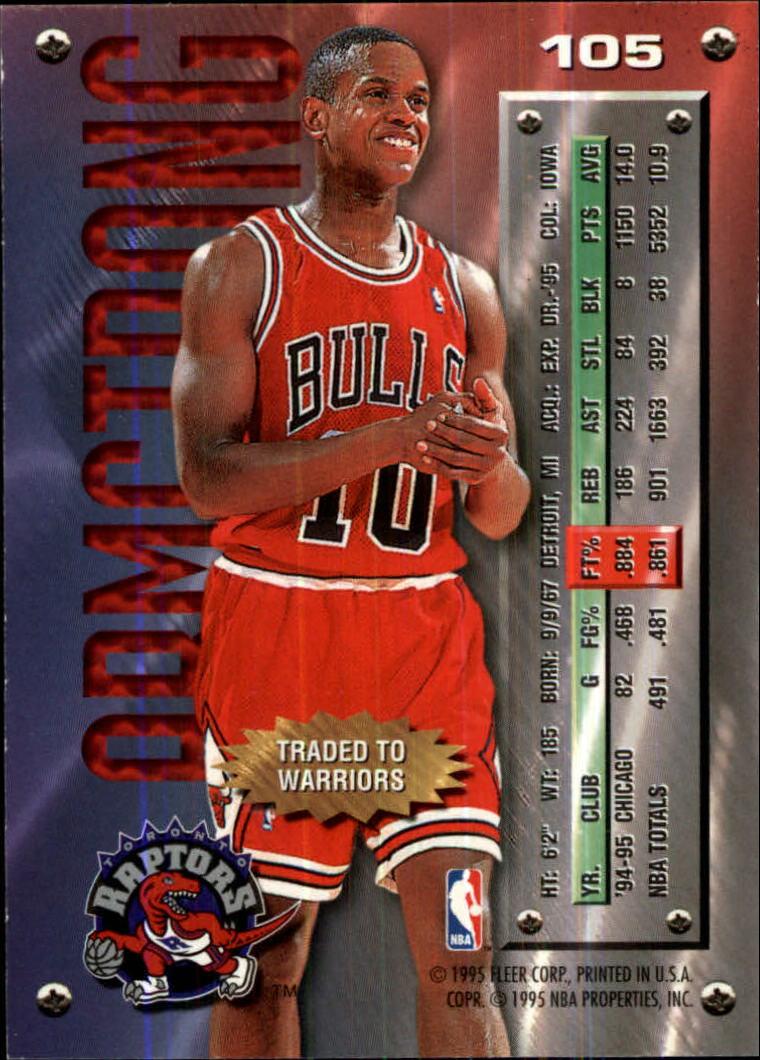 1995-96 Metal #105 B.J. Armstrong back image