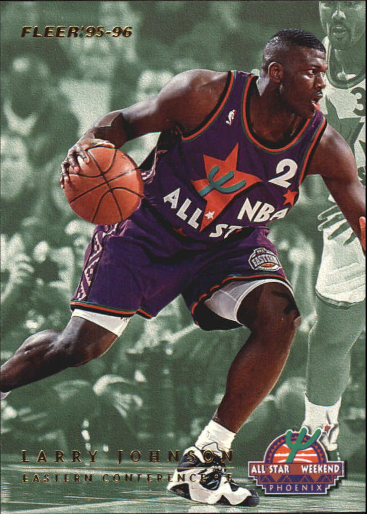 1995-96 Fleer All-Stars #8 Larry Johnson/Detlef Schrempf