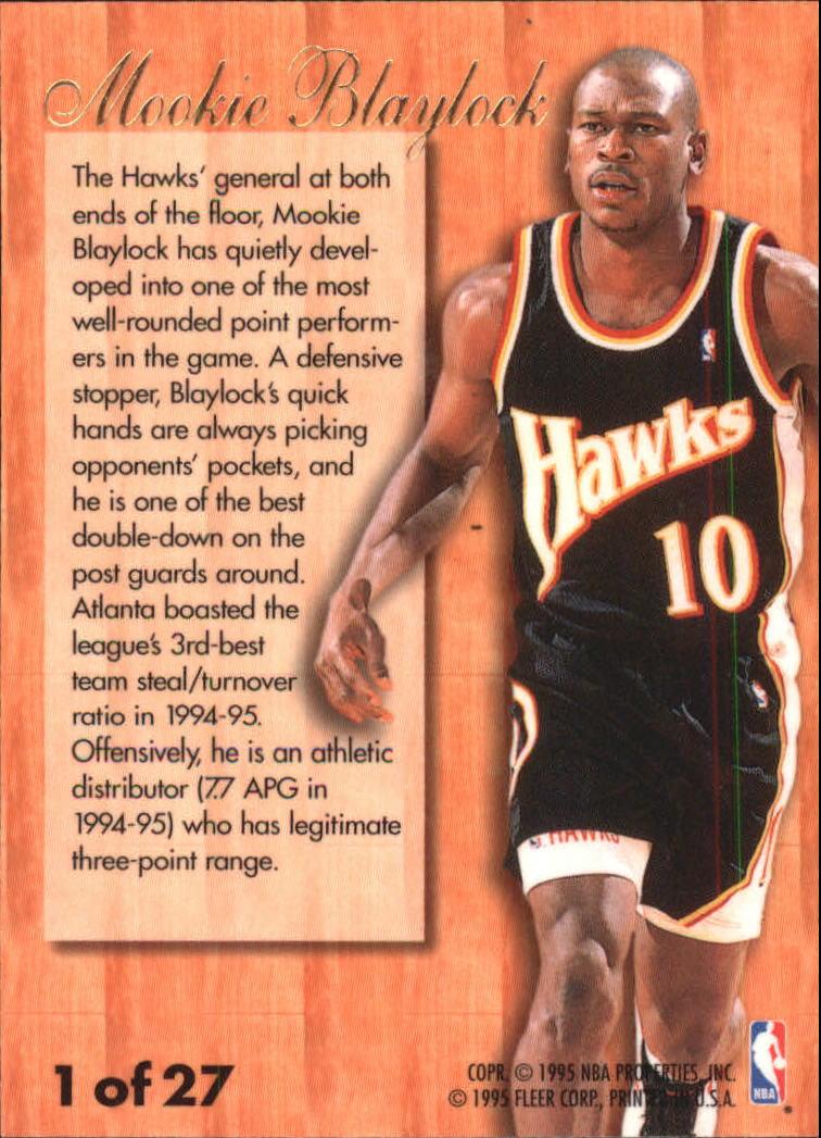1995 96 Fleer Flair Hardwood Leaders 1 Mookie Blaylock NM MT