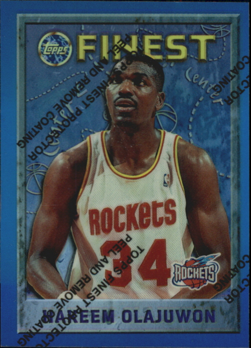 1995-96 Finest Refractors #1 Hakeem Olajuwon