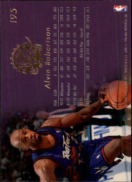 1995-96 Flair #195 Alvin Robertson EXP back image