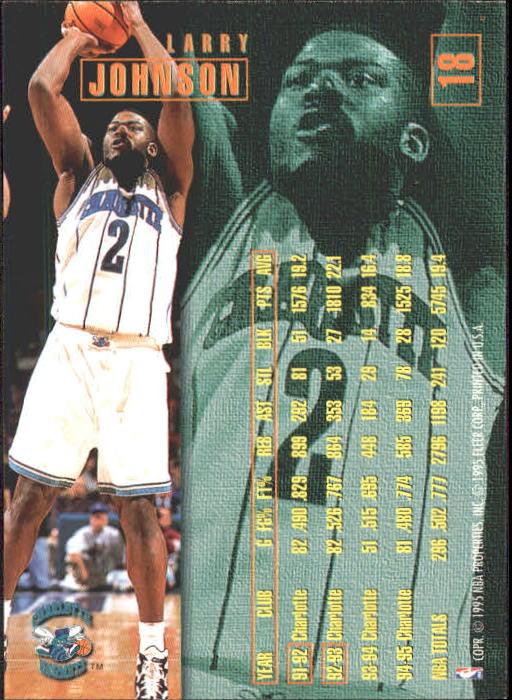 1995-96 Fleer #18 Larry Johnson back image