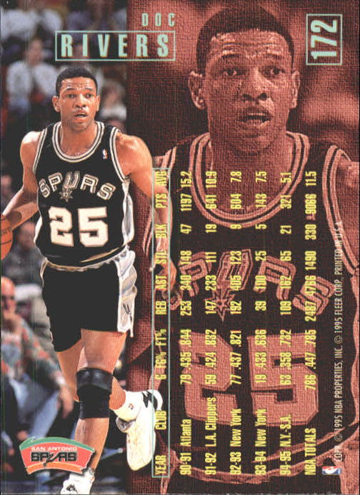 Doc Rivers on the team Spurs.