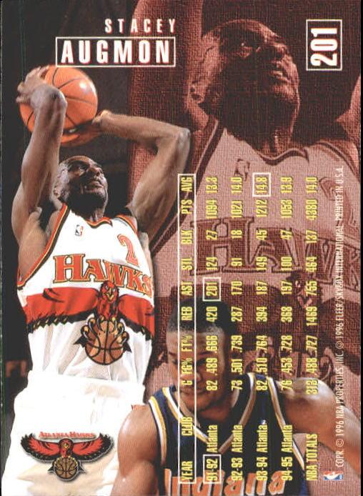 1995-96 Fleer #201 Stacey Augmon back image