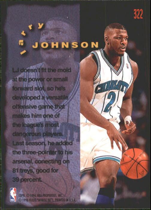 1995-96 Fleer #322 Larry Johnson FF back image