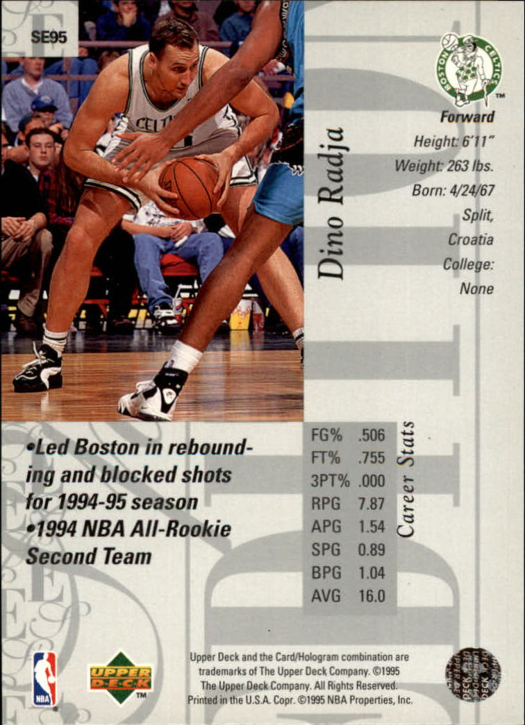 1995-96 Upper Deck Special Edition #95 Dino Radja back image