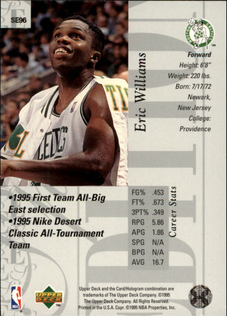 1995-96 Upper Deck Special Edition #96 Eric Williams back image