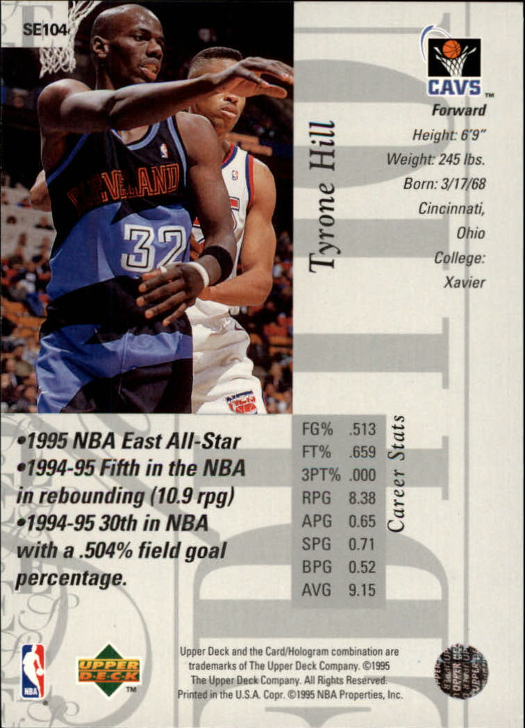 1995-96 Upper Deck Special Edition #104 Tyrone Hill back image