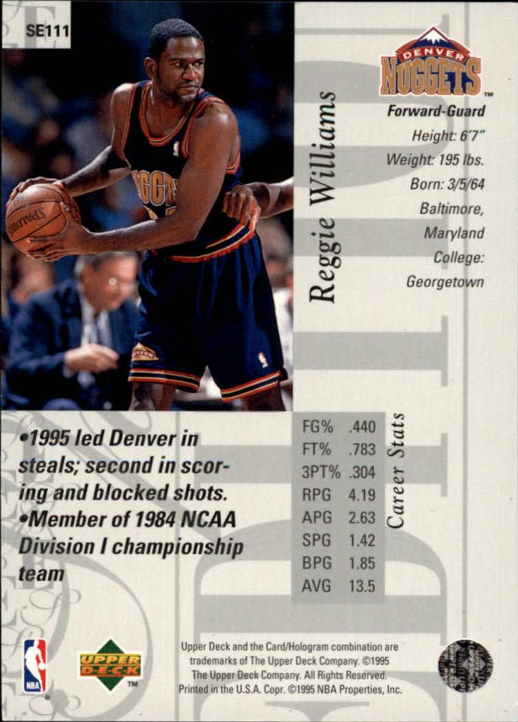 1995-96 Upper Deck Special Edition #111 Reggie Williams back image
