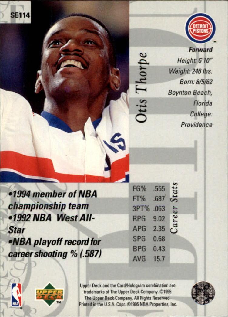 1995-96 Upper Deck Special Edition #114 Otis Thorpe back image