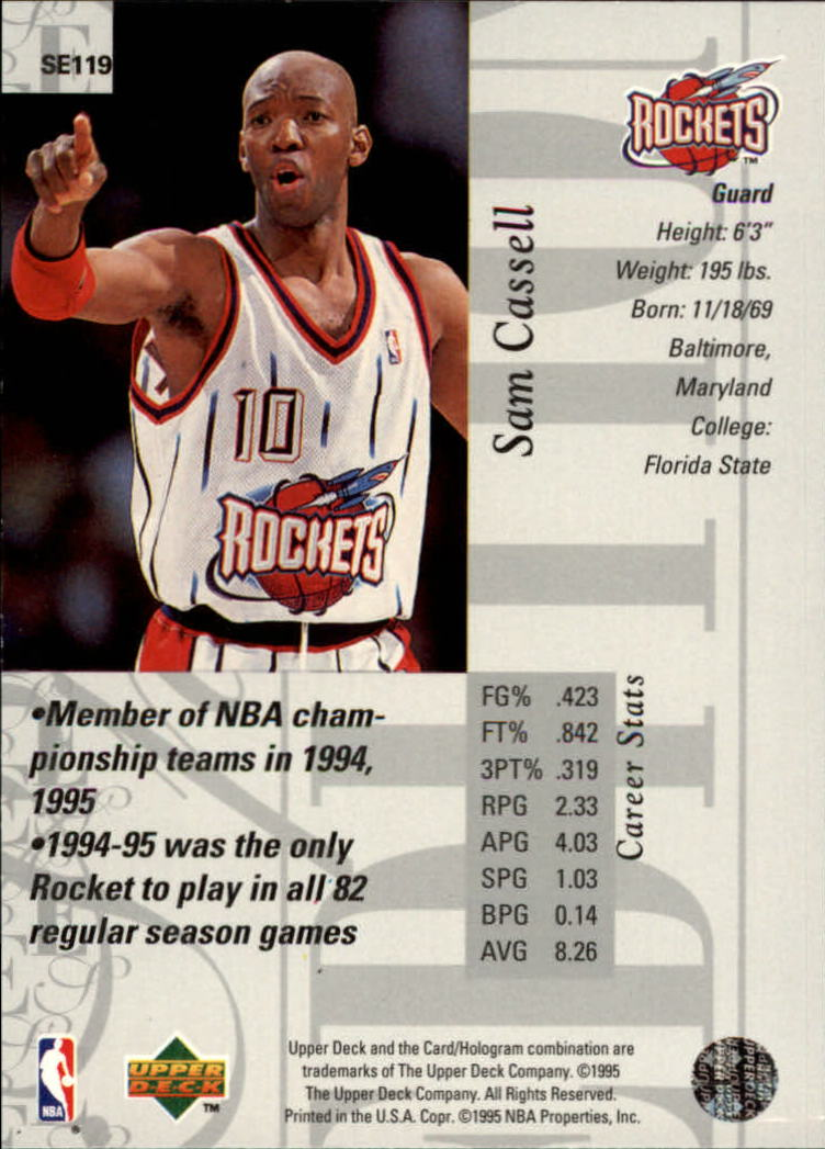 1995-96 Upper Deck Special Edition #119 Sam Cassell back image