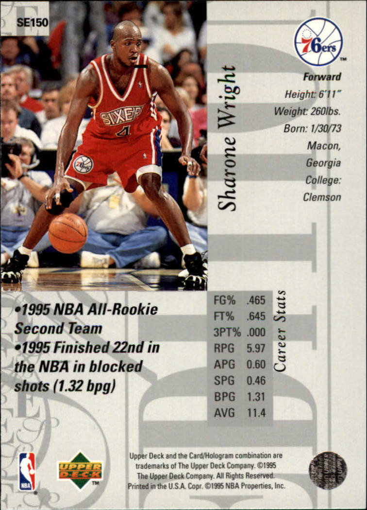 1995-96 Upper Deck Special Edition #150 Sharone Wright back image