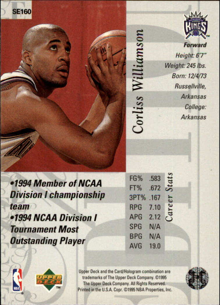 1995-96 Upper Deck Special Edition #160 Corliss Williamson back image