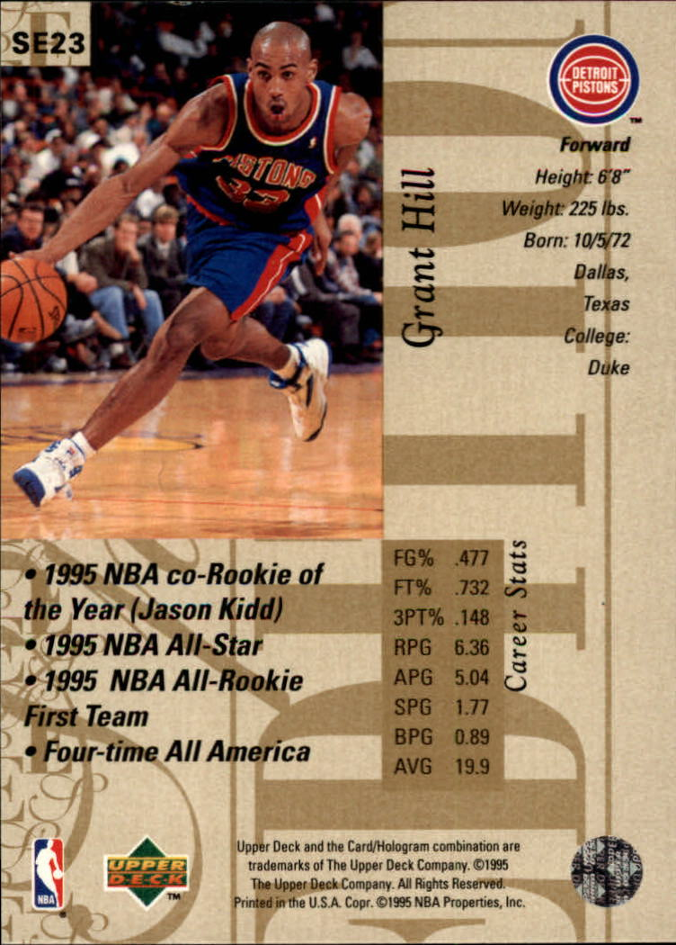 1995 96 Upper Deck Special Edition Gold 23 Grant Hill Nm Mt