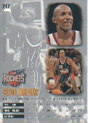 1995-96 Ultra #217 Clyde Drexler back image